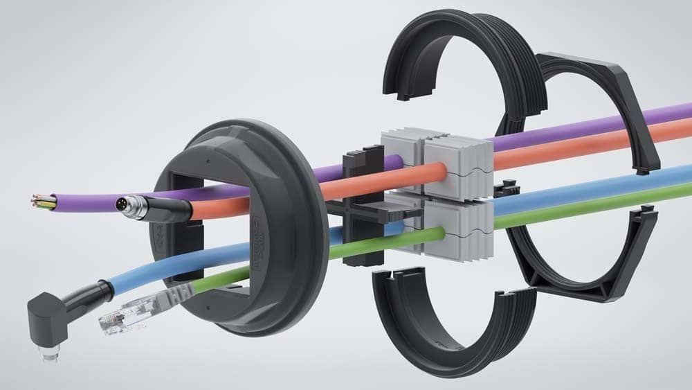 CONTA-CLIP KDS-R kabeldoorvoer voor ronde openingen